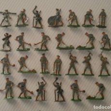 Juguetes Antiguos: 26 SOLDADITOS SOLDADOS DE PLOMO ALEMANES ANTIGUOS EJERCITO ALEMÁN 1916 FABRICADOS EN ALEMANIA 1930. Lote 124973479