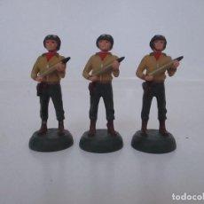 Juguetes Antiguos: SOLDADOS DE PLOMO - SOLDADO USA, CON PROYECTIL - 3 SOLDADOS - CON FUNDA DE PLÁSTICO. Lote 126266291