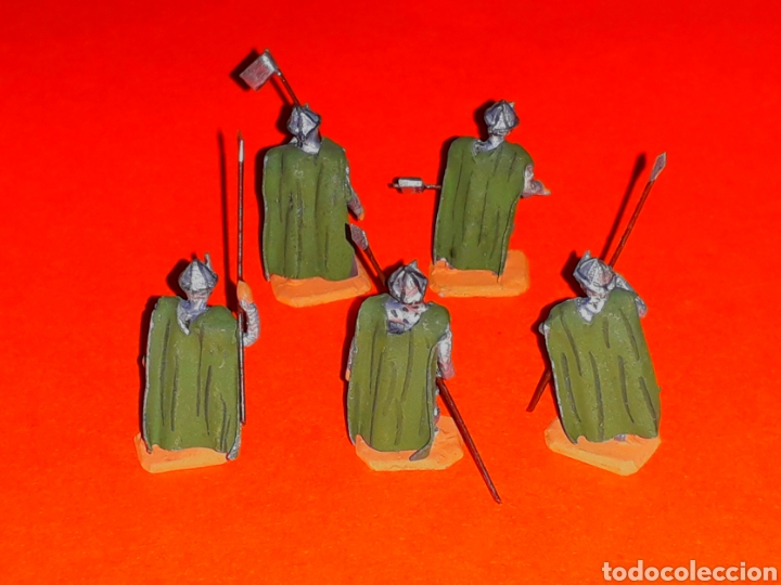 Juguetes Antiguos: *Medievales Normandos* ref. 033, plomo esc. H0 1/86, Alymer Miniploms, made in Spain, años 60. - Foto 2 - 127492623