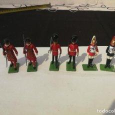 Juguetes Antiguos: 6 SOLDADOS DE PLOMO INGLESES MARCA BRITAINS ENGLAN LTD 1976.. Lote 127601523
