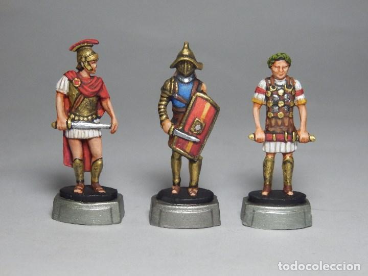 SOLDADOS DE PLOMO, FIGURAS PLOMO ROMANOS, TRES FIGURAS (Juguetes - Soldaditos - Soldaditos de plomo)
