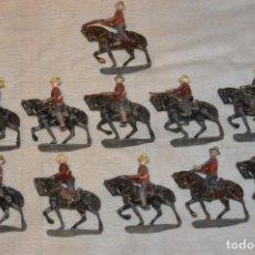 Juguetes Antiguos: VINTAGE - LOTE 11 SOLDADOS DE PLOMO A CABALLO - SANQUEZ, CASANELLAS, EULOGIO...ENVÍO 24H - L06. Lote 128925939