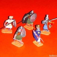 Juguetes Antiguos: MOROS Y CRISTIANOS CRUZADOS, PLOMO ESC. H0 1/86, ALYMER MINIPLOMS, MADE IN SPAIN, AÑOS 60.. Lote 129416159