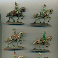 Juguetes Antiguos: LOTE DE 6 SOLDADOS CABALLOS DE PLOMO ANTIGUOS. Lote 131066260