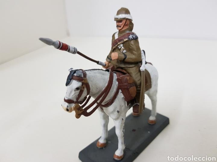 Juguetes Antiguos: Lancero del 21 regimiento United Kingdom 1898 soldado de plomo DEA by cassandra - Foto 3 - 133730974