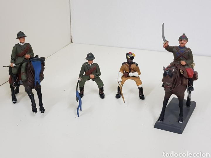 Juguetes Antiguos: Lote de despiece soldados de plomo a caballo de avall Casandra - Foto 2 - 133731827