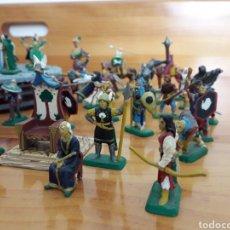 Juguetes Antiguos: SUPER LOTE MINIATURAS MITHRIL SEÑOR DE LOS ANILLOS. Lote 134073165