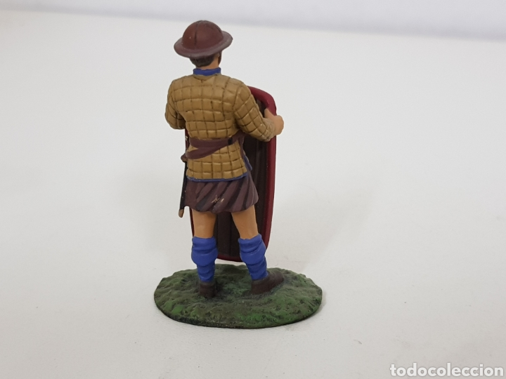 Juguetes Antiguos: Pavesero borgoñon año 1424 soldado de plomo con escudo - Foto 3 - 134292389