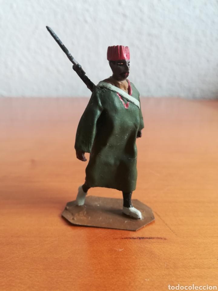 Juguetes Antiguos: Antiguo soldadito plomo Tropas Regulares Marruecos Indígenas Guerra Civil Española Tabor Miniatura - Foto 2 - 137564114
