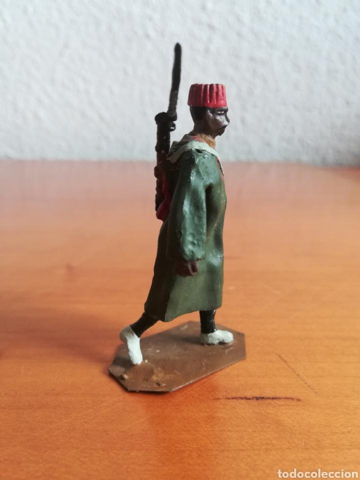 Juguetes Antiguos: Antiguo soldadito plomo Tropas Regulares Marruecos Indígenas Guerra Civil Española Tabor Miniatura - Foto 3 - 137564114