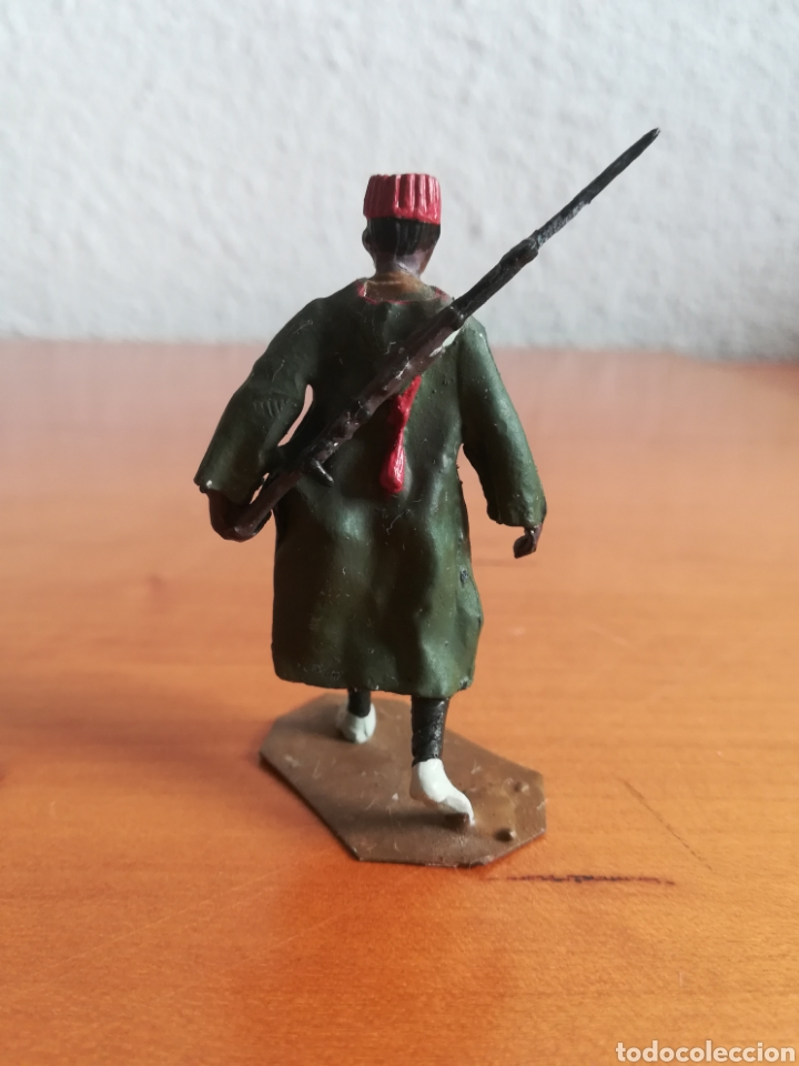 Juguetes Antiguos: Antiguo soldadito plomo Tropas Regulares Marruecos Indígenas Guerra Civil Española Tabor Miniatura - Foto 5 - 137564114