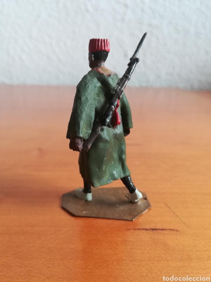 Juguetes Antiguos: Antiguo soldadito plomo Tropas Regulares Marruecos Indígenas Guerra Civil Española Tabor Miniatura - Foto 6 - 137564114