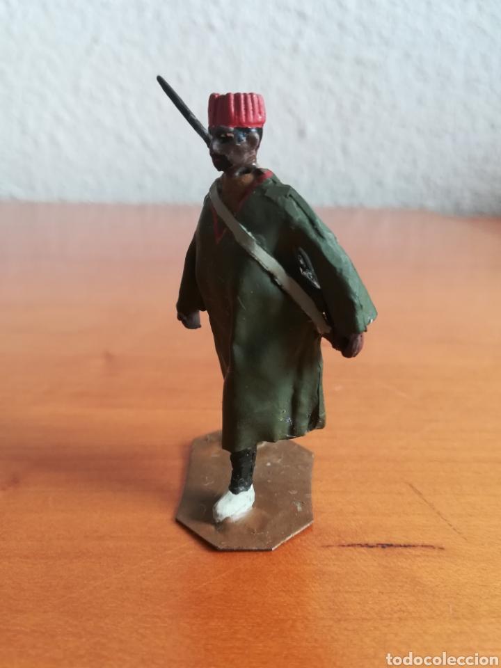 Juguetes Antiguos: Antiguo soldadito plomo Tropas Regulares Marruecos Indígenas Guerra Civil Española Tabor Miniatura - Foto 8 - 137564114