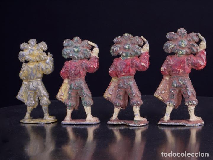 Juguetes Antiguos: ANTIGUAS FIGURAS MILITARES DE PLOMO. 4 SOLDADOS BANDA DE TAMBORES - Foto 3 - 139534490