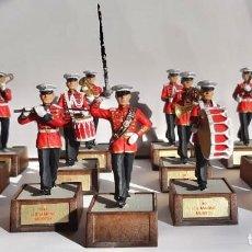 Juguetes Antiguos: SOLDAT BANDA DE MUSICA US MARINE 1941 EN PERFECTO ESTADO 13 PIEZAS 54MM BANDA COMPLETA. Lote 142999302