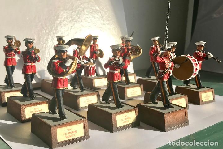 Juguetes Antiguos: SOLDAT BANDA DE MUSICA US MARINE 1941 EN PERFECTO ESTADO 13 PIEZAS 54MM BANDA COMPLETA - Foto 2 - 142999302