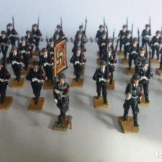 Juguetes Antiguos: FORMACION DE LAS SS DE 35MM DE PEREZ ARIAS 36 PIEZAS. Lote 144151326