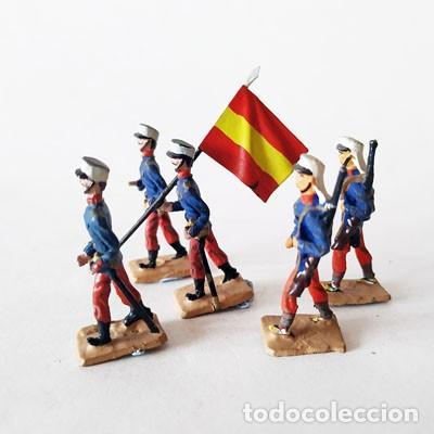 SOLDADO DE PLOMO 30 MM - FORMACION ESPAÑOLA - FIGURA SOLDADITO 30 MM MINIATURA (Juguetes - Soldaditos - Soldaditos de plomo)