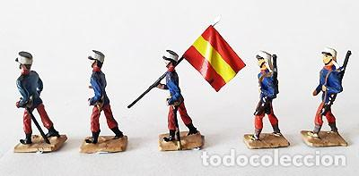 Juguetes Antiguos: SOLDADO DE PLOMO 30 MM - FORMACION ESPAÑOLA - FIGURA SOLDADITO 30 MM MINIATURA - Foto 3 - 146728926