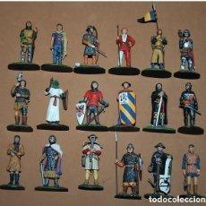 Juguetes Antiguos: LOTE DE 18 FIGURAS DE PLOMO SOLDADOS / EDAD MEDIA. Lote 147787474