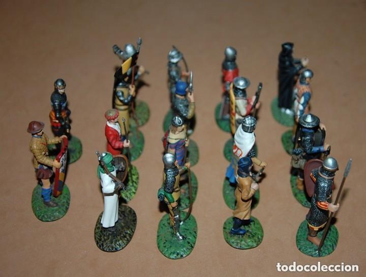 Juguetes Antiguos: LOTE DE 18 FIGURAS DE PLOMO SOLDADOS / EDAD MEDIA - Foto 6 - 147787474