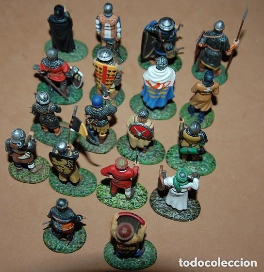 Juguetes Antiguos: LOTE DE 18 FIGURAS DE PLOMO SOLDADOS / EDAD MEDIA - Foto 7 - 147787474