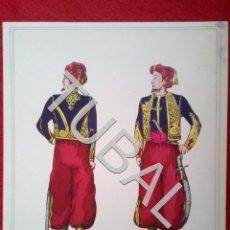 Juguetes Antiguos: TUBAL DIBUJO ZUAVO SOLDADO ANONIMO ILUMINADO MILITARIA B02. Lote 148206678