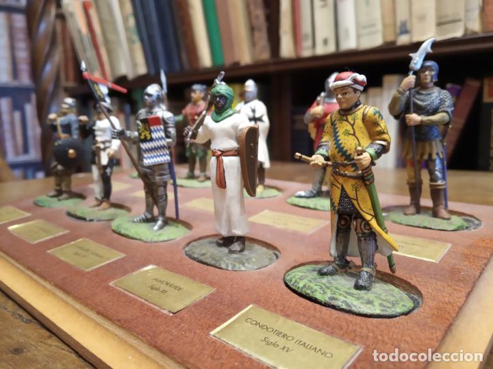 Juguetes Antiguos: LOTE DE 30 SOLDADOS DE PLOMO MEDIEVALES - EN SUS PEANAS DE MADERA - ALTAYA - - Foto 7 - 150128254