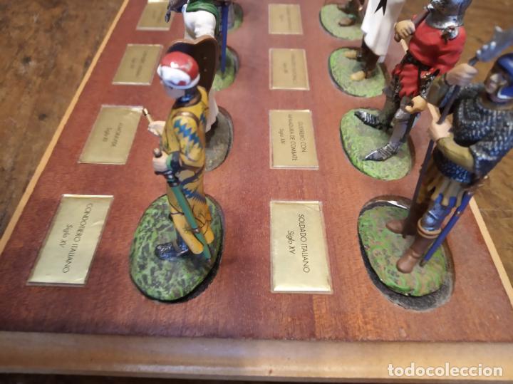 Juguetes Antiguos: LOTE DE 30 SOLDADOS DE PLOMO MEDIEVALES - EN SUS PEANAS DE MADERA - ALTAYA - - Foto 11 - 150128254