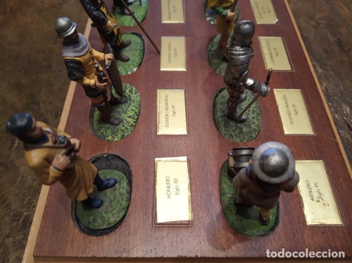 Juguetes Antiguos: LOTE DE 30 SOLDADOS DE PLOMO MEDIEVALES - EN SUS PEANAS DE MADERA - ALTAYA - - Foto 14 - 150128254