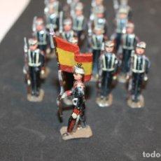 Juguetes Antiguos: PALOMEQUE, 17 SOLDADOS DE PLOMO,. Lote 152475650