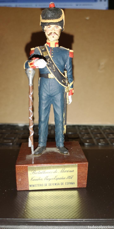 SOLDADO DE PLOMO PINTADO A MANO BATALLONES DE MARINA TAMBOR MAYOR 1857 MINISTERIO DE DEFENSA ESPAÑA (Juguetes - Soldaditos - Soldaditos de plomo)