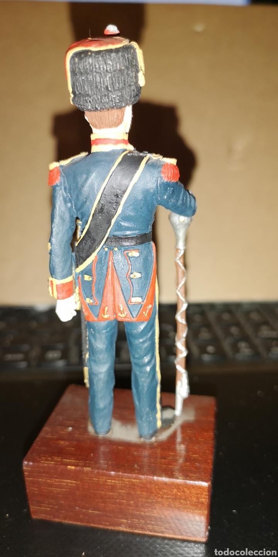 Juguetes Antiguos: Soldado de plomo pintado a mano batallones de Marina tambor mayor 1857 Ministerio de Defensa España - Foto 3 - 153182120