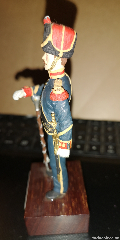 Juguetes Antiguos: Soldado de plomo pintado a mano batallones de Marina tambor mayor 1857 Ministerio de Defensa España - Foto 4 - 153182120