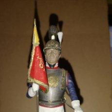 Juguetes Antiguos: SOLDADO DE PLOMO PINTADO A MANO CORACERO ALTURA 16 CM. Lote 153186066
