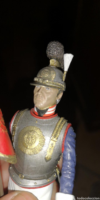 Juguetes Antiguos: Soldado de plomo pintado a mano Coracero altura 16 cm - Foto 2 - 153186066