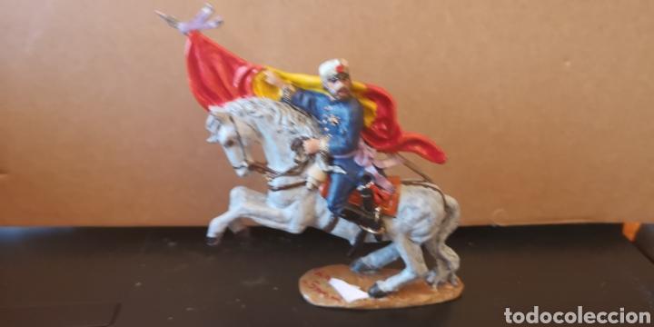 Juguetes Antiguos: Soldado de plomo pintado a mano artesanalmente representando la figura del general Prim en la guerra - Foto 2 - 153305549