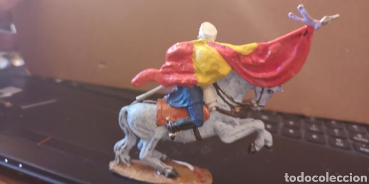 Juguetes Antiguos: Soldado de plomo pintado a mano artesanalmente representando la figura del general Prim en la guerra - Foto 5 - 153305549