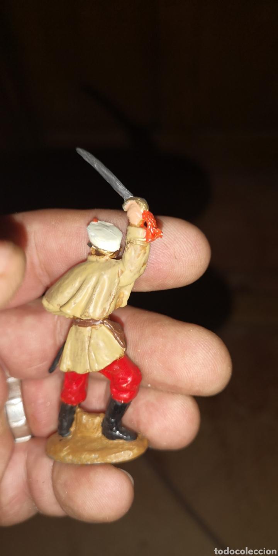 Juguetes Antiguos: Conjunto de 5 soldados de plomo representando a tropas españolas en la guerra de África - Foto 8 - 153306421