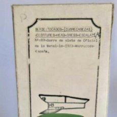 Juguetes Antiguos: SERIE TOCADOS DE LUCIO SAEZ OFICIAL DE LA MEHAL-LA 1923 MARRUECOS ESPAÑA CAJA ORIGINAL. Lote 155688426