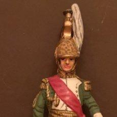 Juguetes Antiguos: SOLDADO DE PLOMO PINTADOS A MANO NAPOLEÓNICO GENERAL DE DRAGONES. Lote 155856370