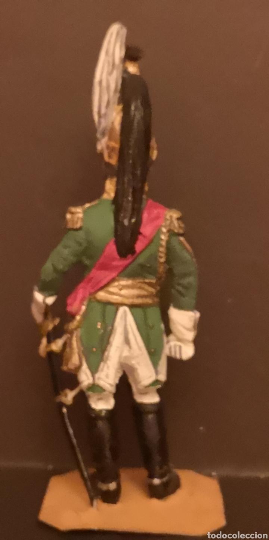 Juguetes Antiguos: Soldado de plomo pintados a mano napoleónico general de dragones - Foto 3 - 155856370