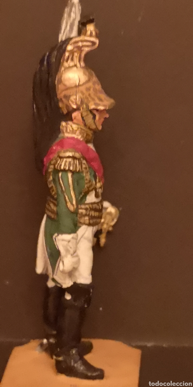 Juguetes Antiguos: Soldado de plomo pintados a mano napoleónico general de dragones - Foto 4 - 155856370