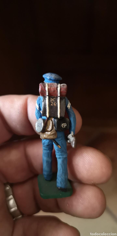 Juguetes Antiguos: Antiguo soldado de plomo pintados artesanalmente representando soldado unionista - Foto 3 - 156505842