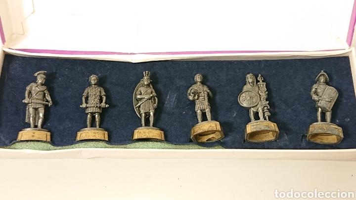 Juguetes Antiguos: Caja de soldados Romanos Winter de metal centurion, legionario, gladiador - Foto 2 - 158173052