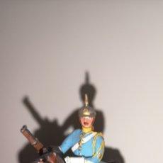 Juguetes Antiguos: SOLDADO DE PLOMO PINTADA ARTESANALMENTE HÚSARES DE LA PRINCESA OFICIAL MONTADO A CABALLO. Lote 158454018