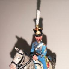 Juguetes Antiguos: SOLDADO DE PLOMO PINTADOS ARTESANALMENTE REGIMIENTO DE BAILÉN 5º DE CAZADORES OFICIAL 1844. Lote 158454613