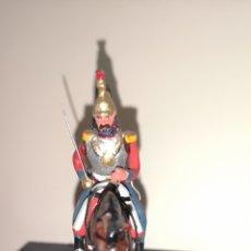 Juguetes Antiguos: SOLDADO DE PLOMO PINTADO A MANO ARTESANALMENTE REGIMIENTO DEL REY 1º DE CORACEROS 1844. Lote 158454888