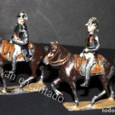 Juguetes Antiguos: SOLDADOS DE PLOMO. NAPOLEON Y OFICIAL A CABALLO. ORIGINALES 1900. Lote 159106922