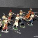 Juguetes Antiguos: SOLDADOS DE PLOMO. MOROS EN COMBATE A PIE. ORIGINALES 1900. Lote 159107602